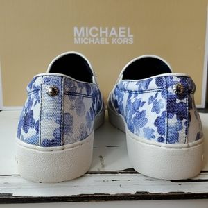 Michael Kors Shoes - Michael Kors Blue Keaton Slip On Sneakers